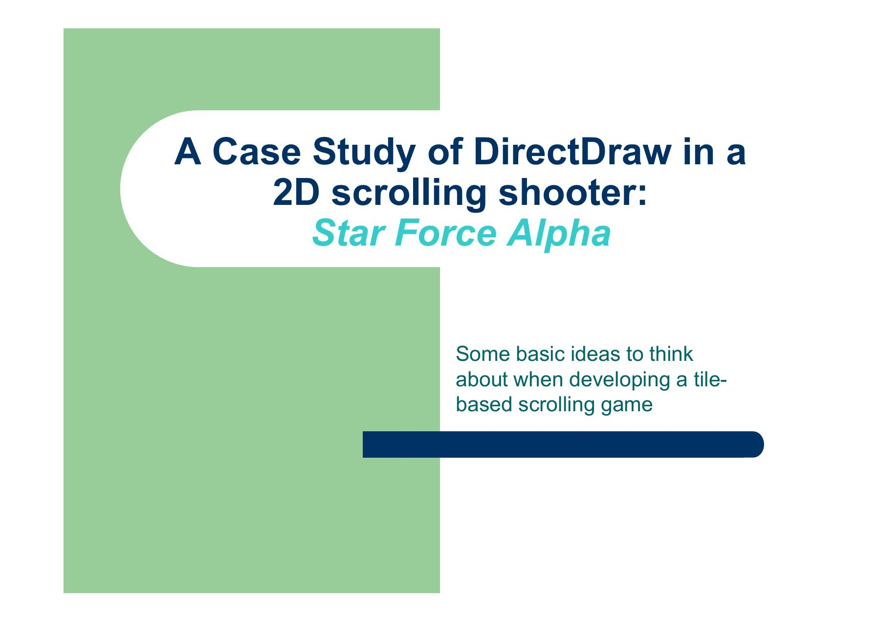 Two-dimensional Scrolling Games Using Direct Draw | Focusky