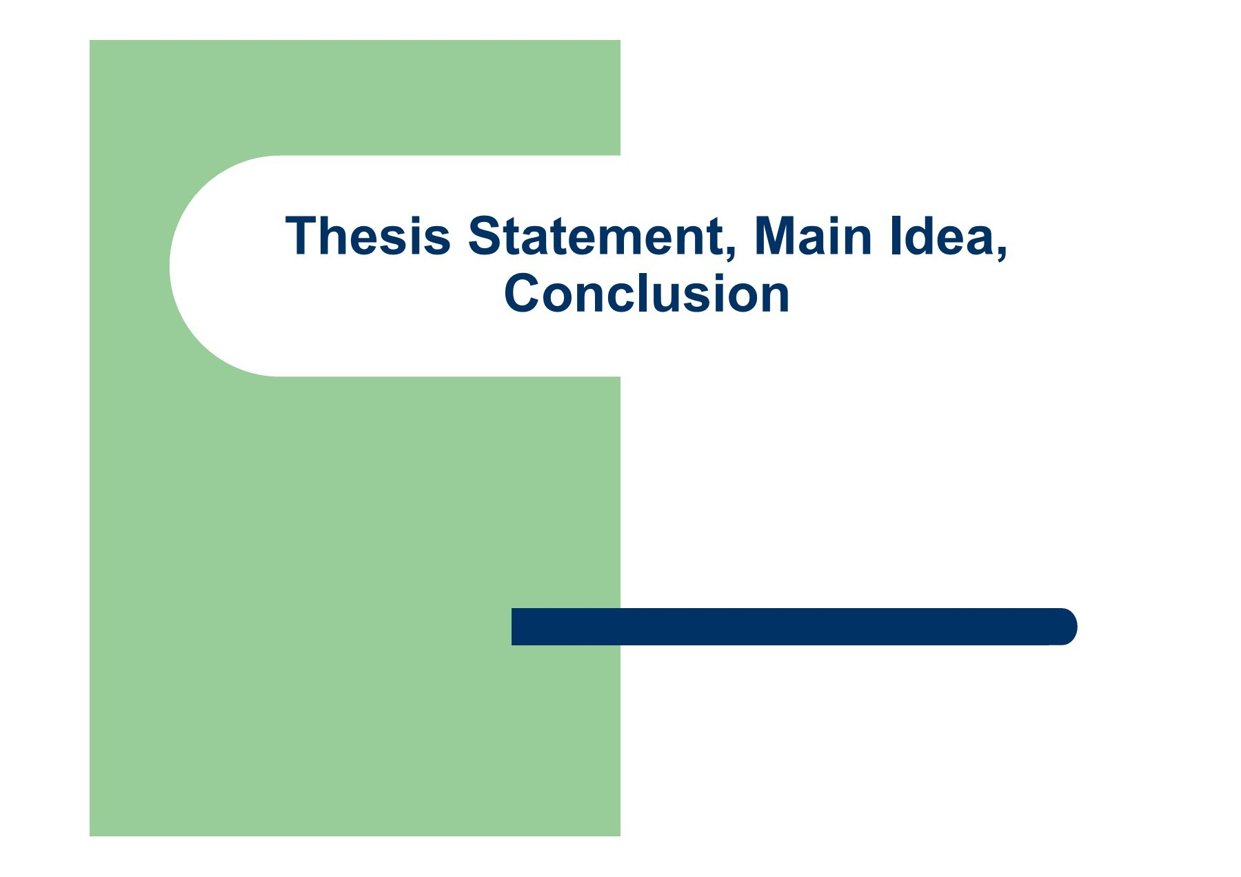 where to place a thesis statement in an essay