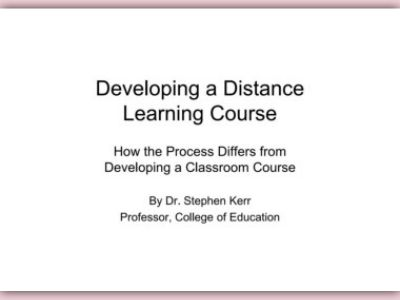 developing distance learning coursework