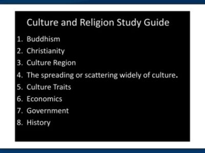 religion and culture in christianity and