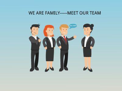 Impressive Meet Our Team Presentation Template Free Download