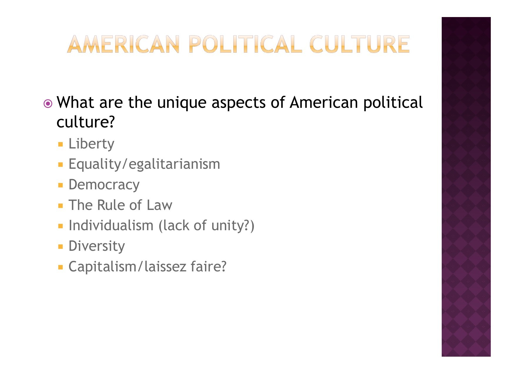 aspects of political culture