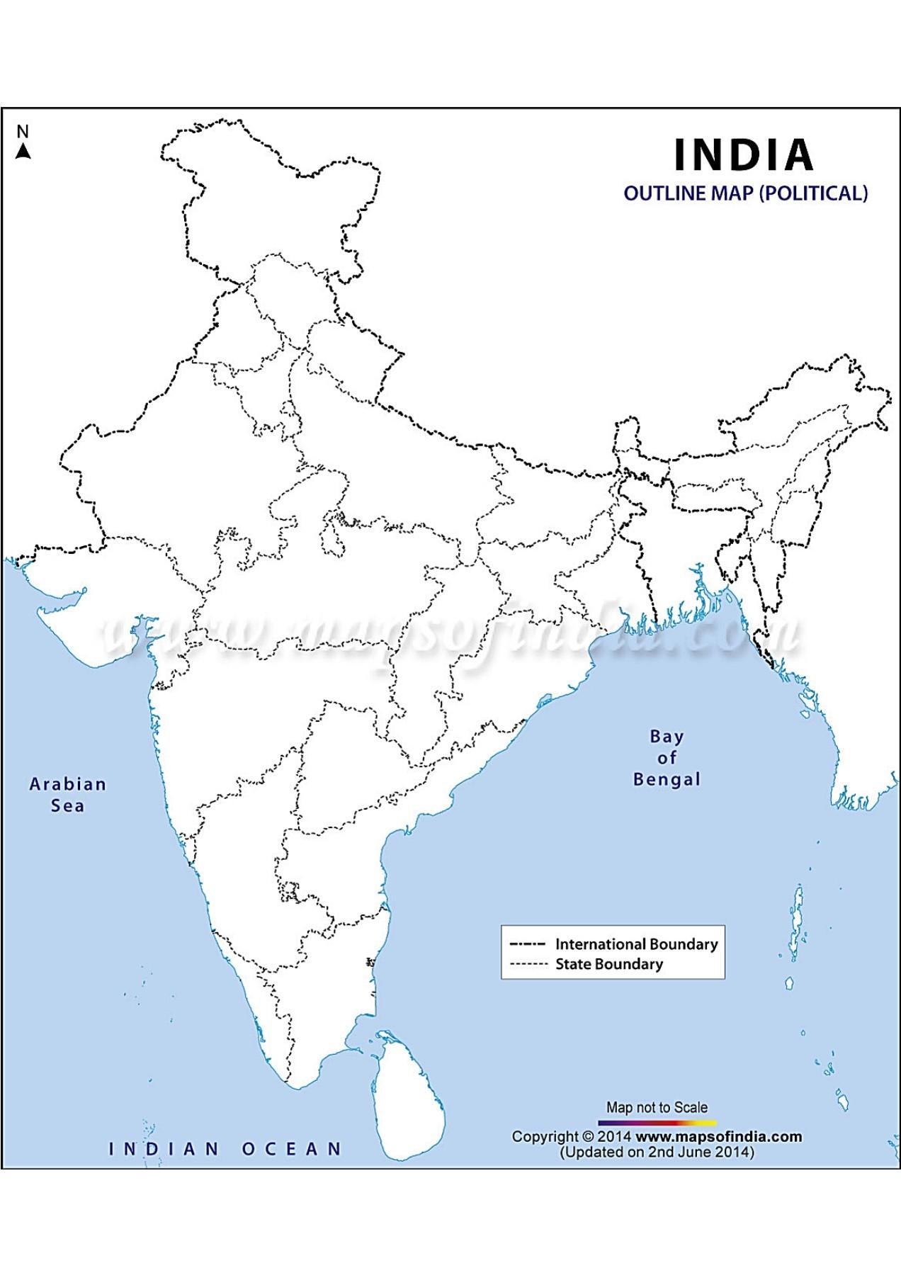 Blank Political World Map 2017