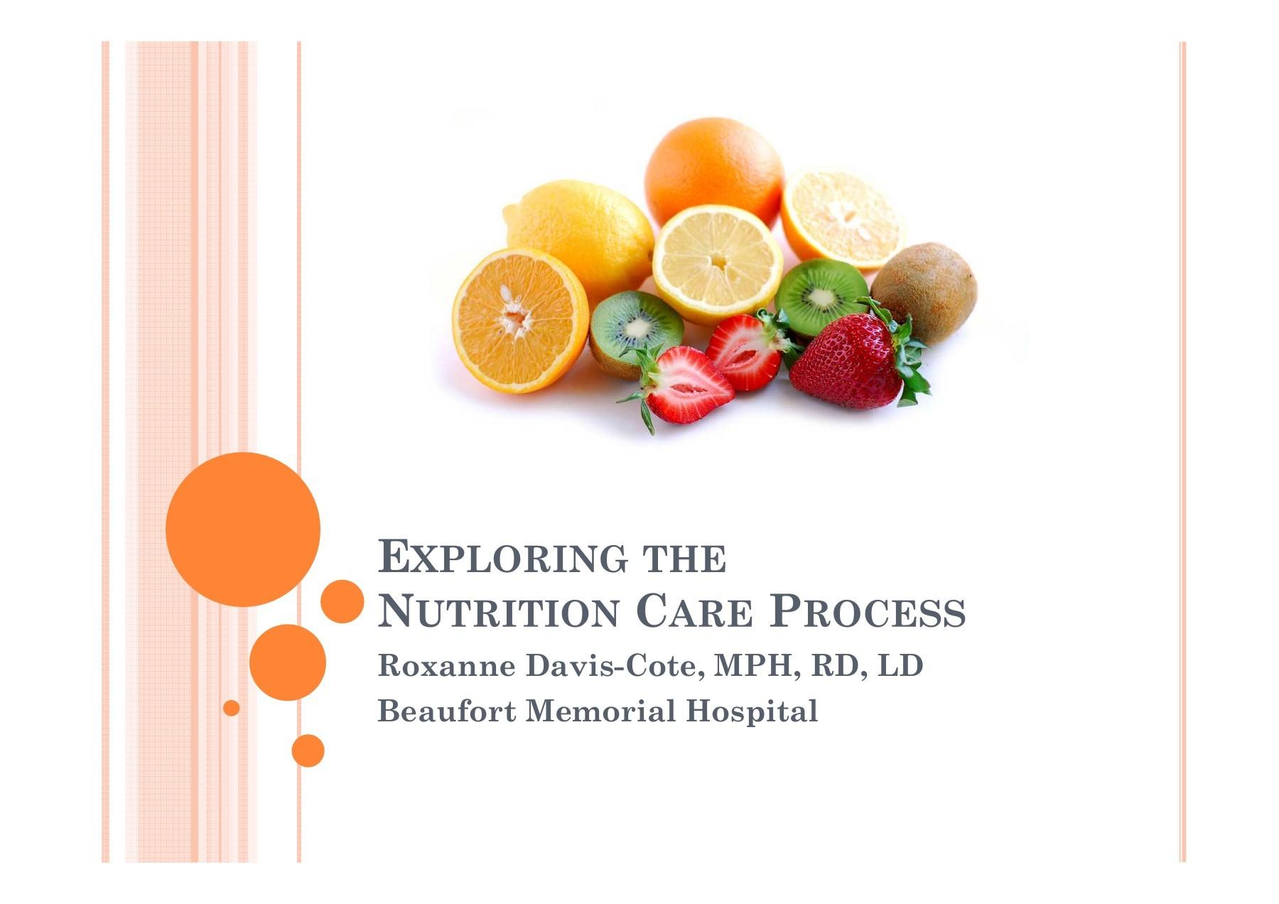 Exploring the Nutrition Care Process - MUSC Health | Focusky
