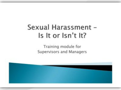 sexual harassment case studies for training Your annual eeo / sexual harassment training this base has a zero tolerance policy on sexual harassment and discrimination have evidence in case you need it.