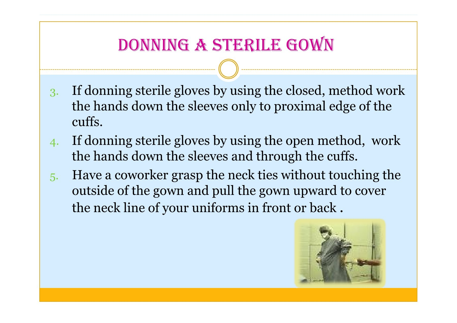 Donning and Removing Sterile Gloves - uqu.edu.sa   Focusky