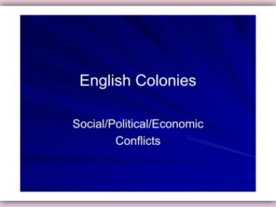 english colonial policy